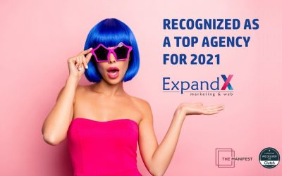 ExpandX named top marketing and web agency for 2021 | by Clutch and the Manifest