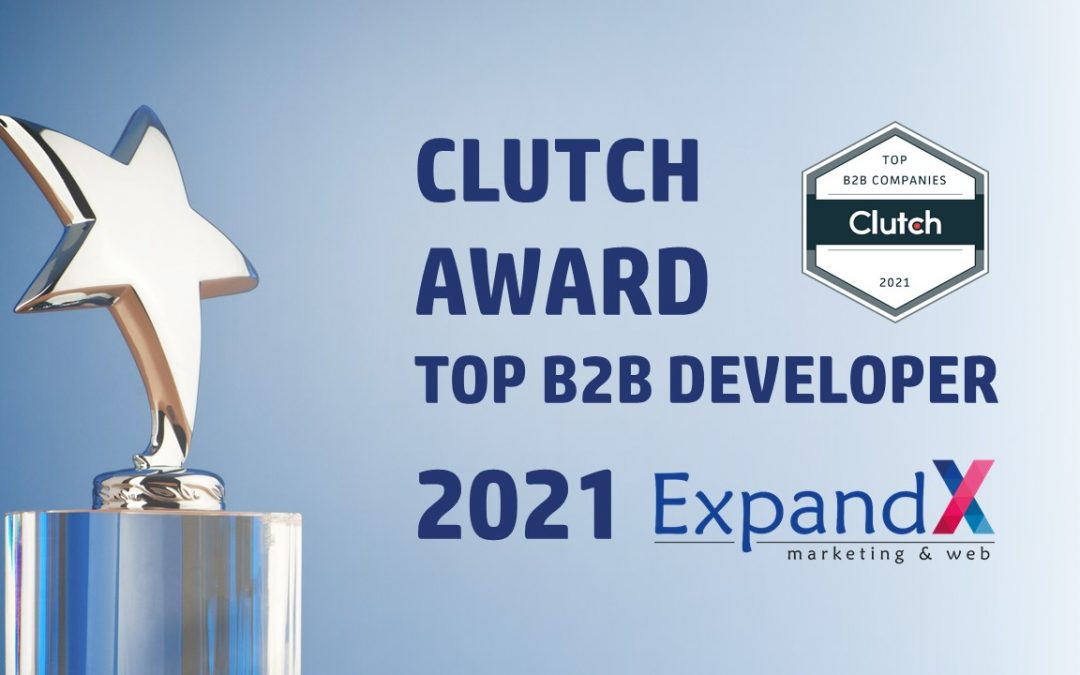 Clutch Names ExpandX as a Top B2B Developer (Web & Marketing) for the Year 2021